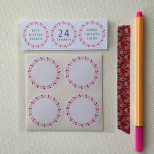 Round Floral Labelling Stickers - diy & craft