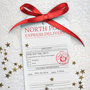 North Pole Express Delivery Tag