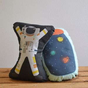 Huggable Space Cushions - children's room