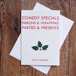 Comedy Specials Christmas Card