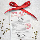 Personalised North Pole Express Delivery Tag