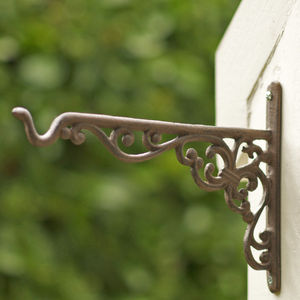 Cast Iron Hanging Basket Hook - gardening