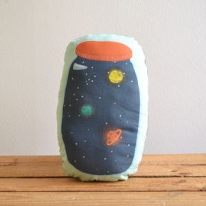 Huggable Space Jar Cushion - patterned cushions