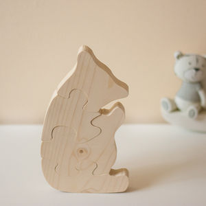 Wooden Bear Puzzle Ornament - home accessories