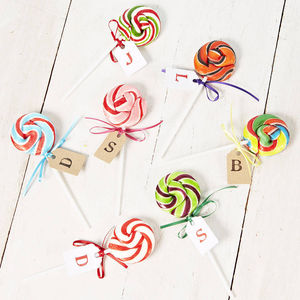 Colour Pop Swirly Lollipops - wedding favours