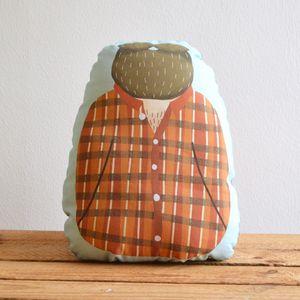 Huggable Lumberjack Cushion - soft furnishings & accessories