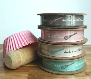 'Baked With Love' Ribbon - ribbon & wrap
