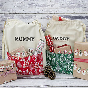 Christmas Personalised Present Sack - stockings & sacks