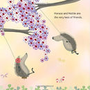 'Hedgehugs' Children's Story Book - page detail Horace & Hattie are the very best of friends