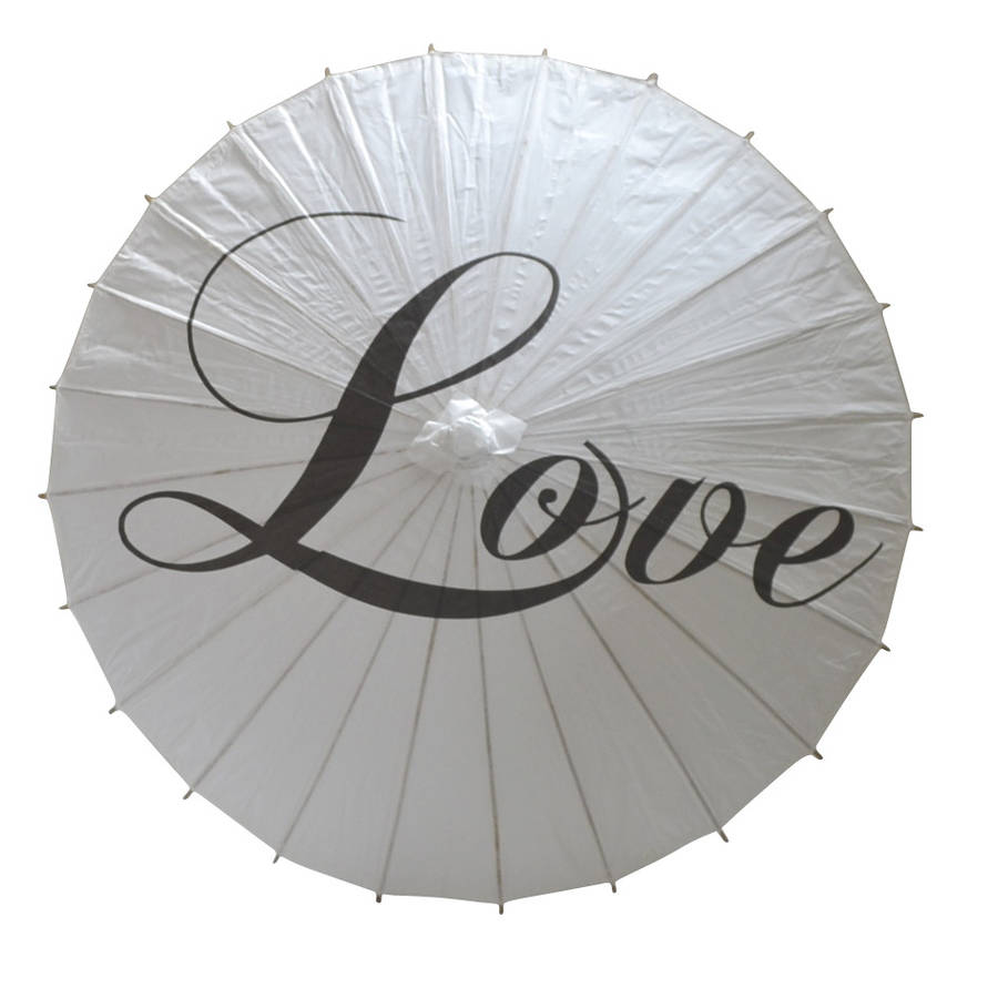 'Love' Wedding Paper Parasol