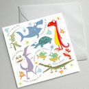 Set Of Five Illustrated Birthday Cards (Snappy)