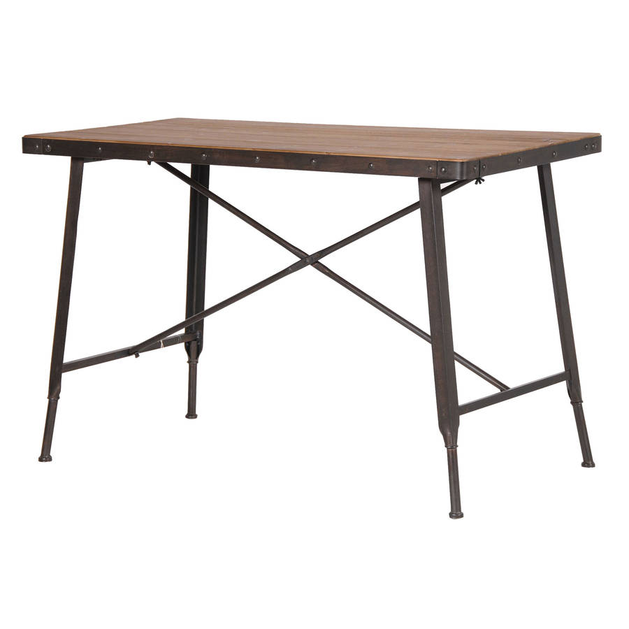 Industrial metal and wood console table by out there Metal console table