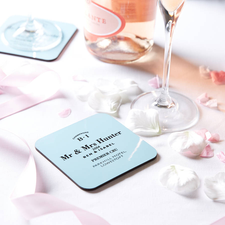 personalised couple\'s / wedding coaster by coconutgrass ...
