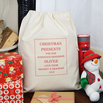 Personalised Grandchildren Christmas Sack