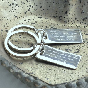 Personalised Silver Message Key Ring - shop by recipient