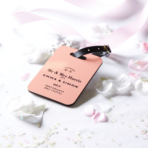 Personalised Couple / Wedding Luggage Tag - wedding gifts