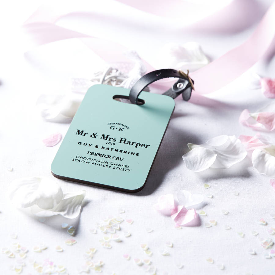 Personalised Couple / Wedding Luggage Tag By Coconutgrass