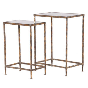 Glass Topped Console Tables One Pair
