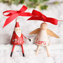 Personalised Miniature Angel And Santa