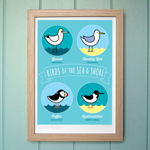 'Birds Of The Sea And Shore' Print - posters & prints