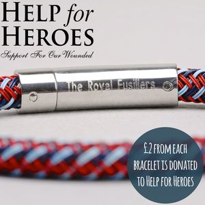 Engraved Men's 'Help For Heroes' Wire Bracelet - bracelets