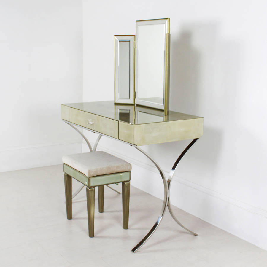 Shagreen glass dressing table by out there interiors for Dressing table