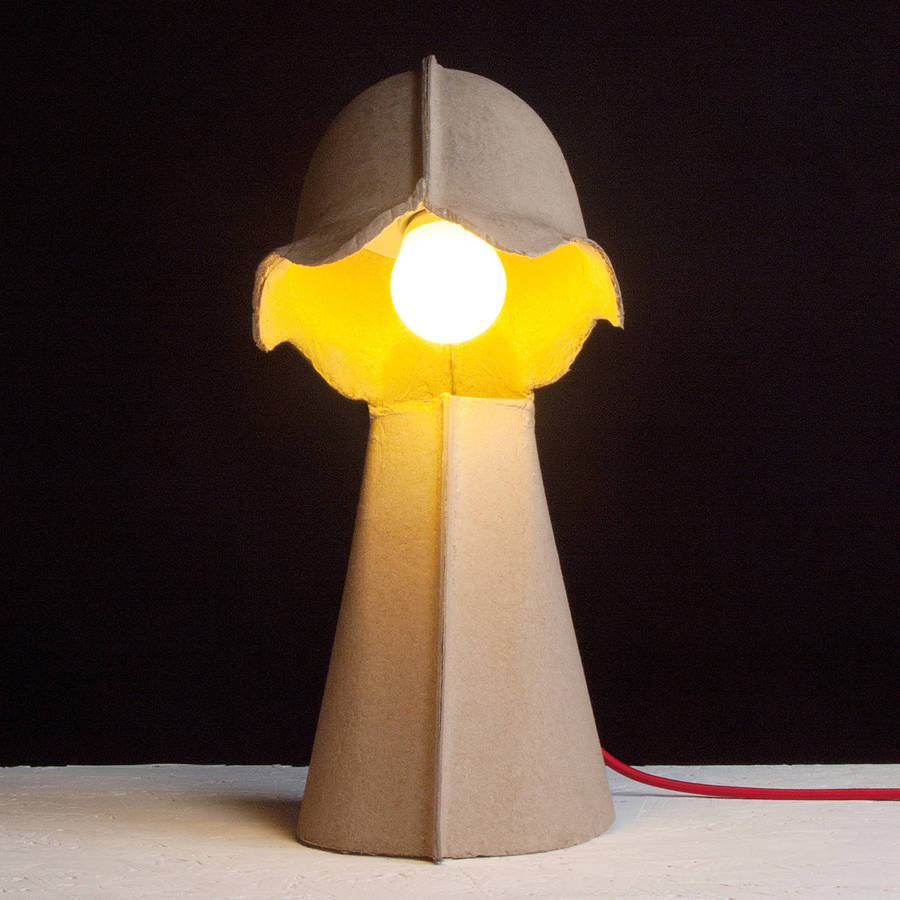 recycled paper desk lamp by out there interiors