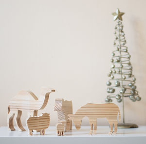 Wooden Nativity Animal Ornaments - nativity scenes & figures