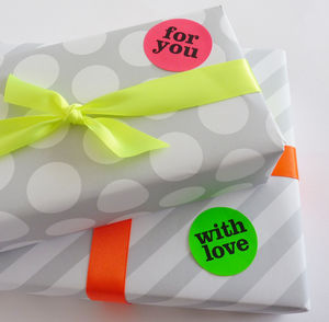 Neon Gift Stickers