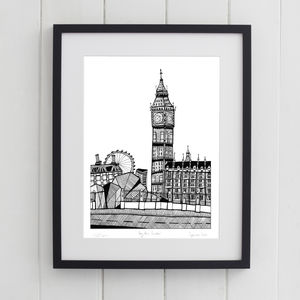 Big Ben London Print - contemporary art