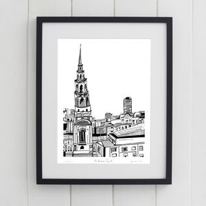 St. Brides Church London Print