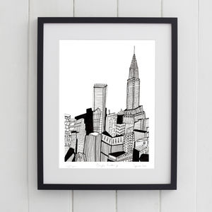 Chrysler Building New York Print - architecture & buildings