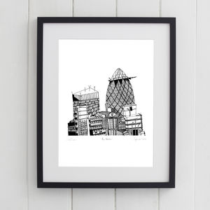 Gherkin London Print - architecture & buildings
