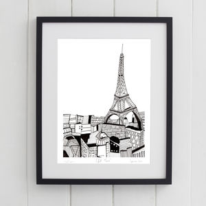 Eiffel Tower Paris Print - architecture & buildings