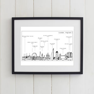 London Skyline Print Black And White - contemporary art