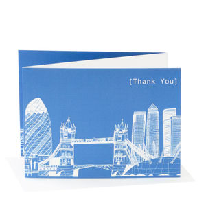 London Skyline 'Thank You' Card - thank you cards