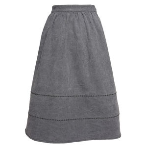 Blue Stitch Detail Midi Skirt - skirts & shorts