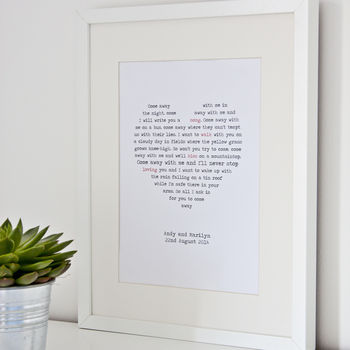 Personalised First Dance Print