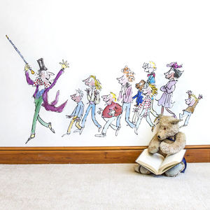 Willy Wonka Roald Dahl Wall Sticker - wall stickers