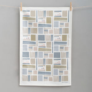 City From Above Tea Towel