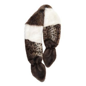 Natural Faux Fur Multi Vixen Scarf - feb layer up