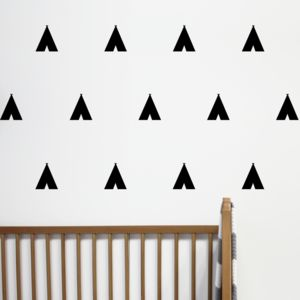 Mini Teepee Tent Wall Stickers