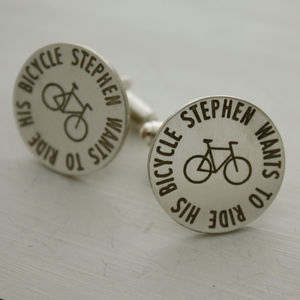 Personalised Bike Cufflinks
