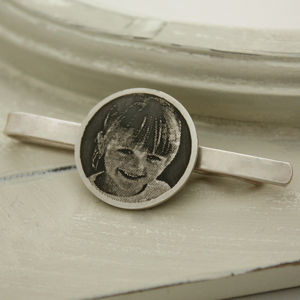 Personalised Photo Tie Clip - tie pins & clips