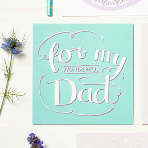 'For My Wonderful Dad' Card - thank you cards
