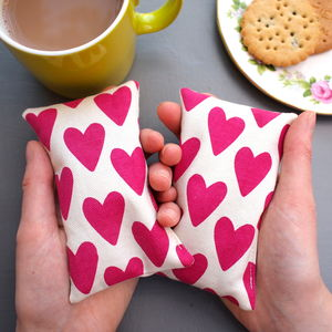 Hand Warmers Heart Print - shop by price