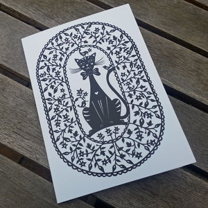 Cat Greetings Card - blank cards