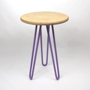Birch Ply Side Table With Hairpin Legs - furniture