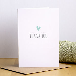 Heart Thank You Cards