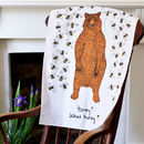Bear And The Bees Tea Towel